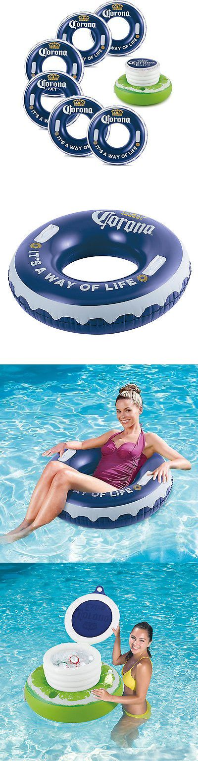 Floats and Rafts 181055: Corona 31 Inch Corona Bottle Cap Tubes, 6 Pack With Inflatable Floating Cooler -> BUY IT NOW ONLY: $39.99 on eBay!