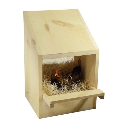 Wood Poultry Laying Nest Box #NestingBox http://www.efowl.com/Wood_Poultry_Laying_Nest_Box_1_Hole_p/303-1000.htm&Click=32918