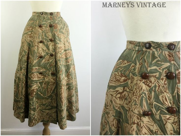 TRUE VINTAGE 80s PATTERNED LEATHER SKIRT SWING CIRCLE MIDI SKIRT SNAKESKIN sz 12 #BrigitteZ #Everyday
