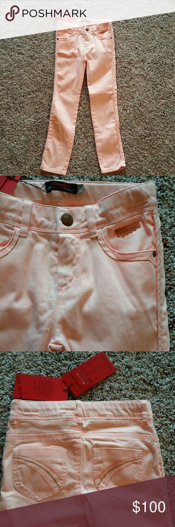 NWT Catimini girls peach pants So cute!!!! Adjustable waist. Cute braided detail along outer edge of legs. I discount bundles! Make me an offer! Catimini Bottoms Casual
