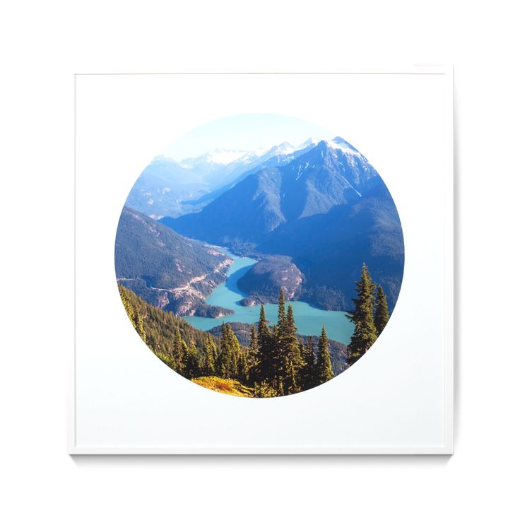 Circular Mountain Print - Wall Art
