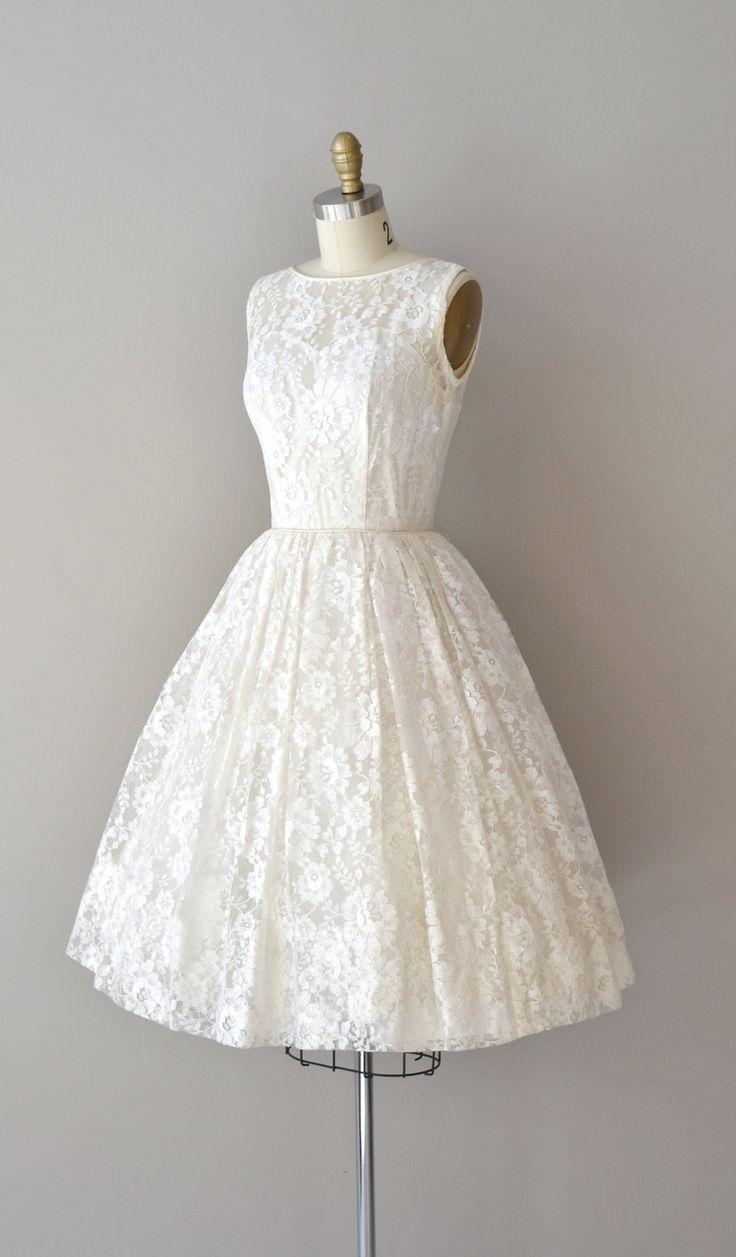 lace 50s wedding dress / 1950s dress / Be Near Me. $265.00, via Etsy. Also good shape for Bridesmaid Dresses