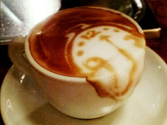 This melting Dali clock latte, spotted on reddit, is the work of Kazuki Yamamoto of Cafe10g in Osaka Japan who has created tons of amazing latte art. [ More pics: https://twitter.com/george_10g/media/grid ]