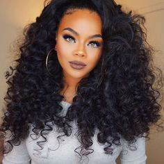 "Affordable luxury 100% virgin hair starting at $65/bundle in the USA. Achieve this look with our luxury line of Mongolian Curly hair extensions, available in lengths 10"" - 26"". www.vipextensionbar.com email info@vipextensionbar.com"