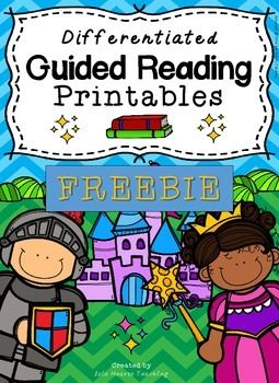 """Free Differentiated Guided Reading Printables......Follow for Free """"too-neat-not-to-keep"""" teaching tools & other fun stuff :)"""