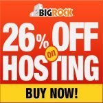 Get 26 % Discount on webhosting and 10 % disocunt on domains.special 25 % discount on Do-it -Yourself website builder tool provided by Bigrock.in  http://www.frip.in/bigrock-in-maximum-26-discount-coupon-code-march-2013/