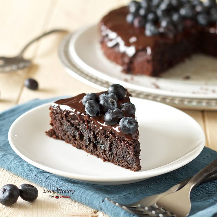 Blueberry Chocolate Cake (gluten-free, dairy-free, Paleo) #justeatrealfood #livinghealthywithchocolate