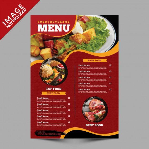 Food Menu Flyer Template Menu De Comida Menu De Restaurante