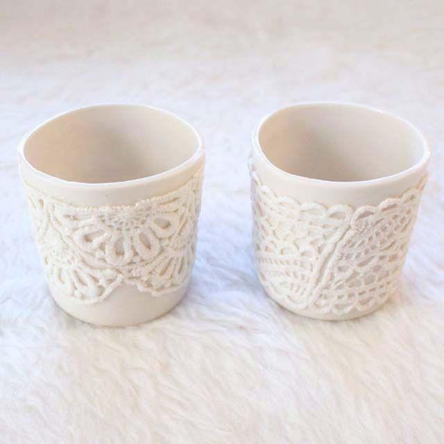 Two Porcelain Lace Lights / SHIP & SHAPE