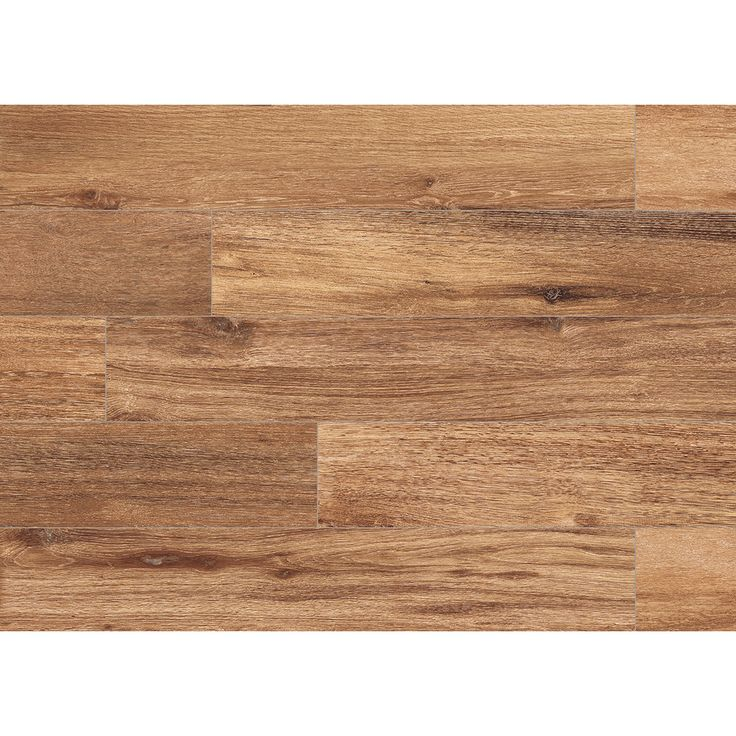 Shop Style Selections Natural Timber Gunstock Glazed Porcelain Indoor/Outdoor Floor Tile (Common: 6-in x 36-in; Actual: 5.79-in x 35.96-in) at Lowes.com