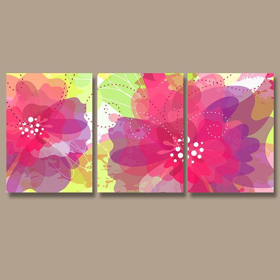 Flower Wall Art Canvas Or Print Kitchen Wall Art Bedroom: Wall Art Watercolor Pottery CANVAS Or Prints Flourish