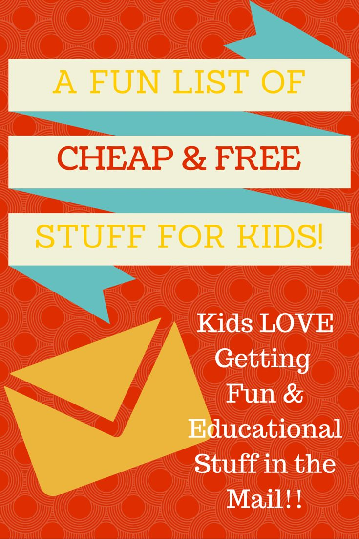 Fun Cheap and Free Stuff for Kids...these are great programs to get fun stuff in the mail...what kid doesn't love getting mail!