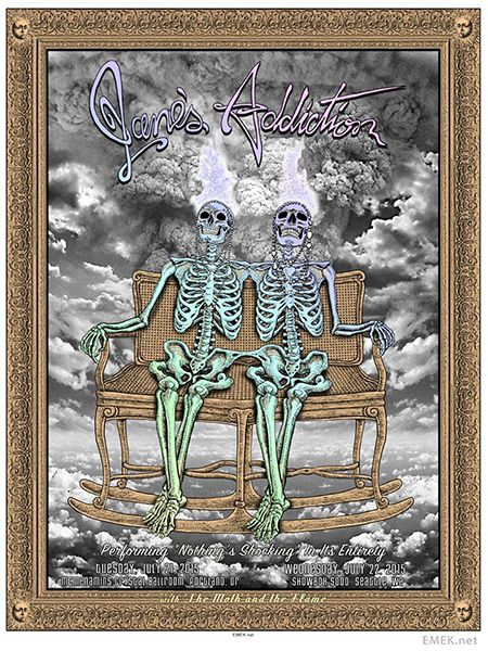 Janes Addiction #gigposter by Emek.