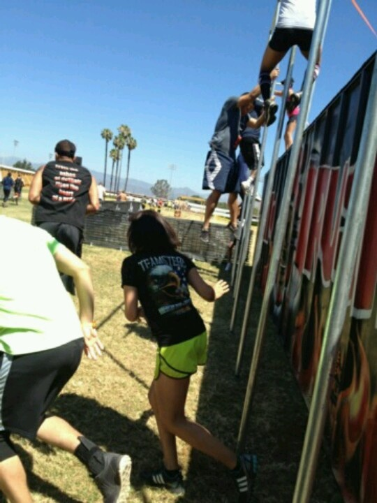 Fire Pole slide @ hero rush 2012. Pomona fair grounds. Representing for Teamsters local 166!