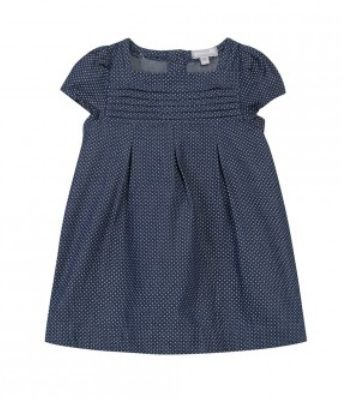 #denim #pois #country #dress #littlegirl #blue #ss15 #spring #summer #GrainDeBlé www.zgeneration.com/it/