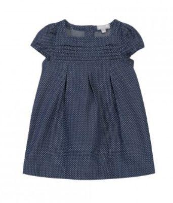 #denim #pois #country #dress #littlegirl #blue #ss15 #spring #summer #GrainDeBlé www.zgeneration.com/it/