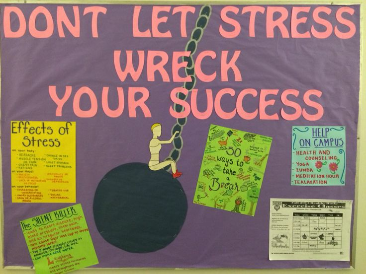 """Don't Let Stress Wreck Your Success"" RA Bulletin Board"