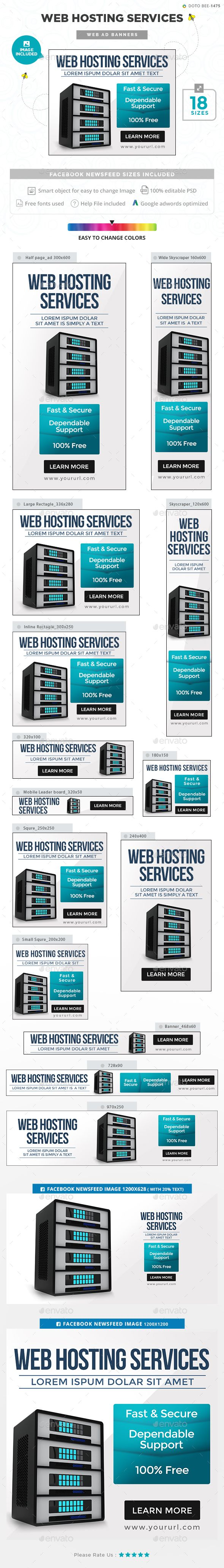 Web Hosting Service Banners - Images Included