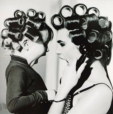 Yes, we really did this.Rollers, Little Girls, Photos Ideas, Mothers Day, Mothers Daughters, Pictures, Mom Daughter, Baby Girls, Hair