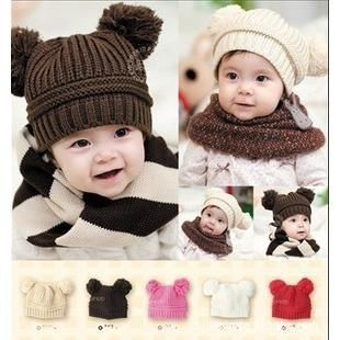 Wholesale Children's boy/girl beanies hats Fashion Baby's Winter Warm Knitted caps double ball solid color hat free shipping #>=#>=#>=#>=#> Click on the pin to check out discount price, color, size, shipping, etc. Save and like it!