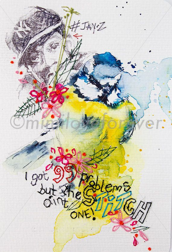 Blue Tit Watercolour. Bird Watercolour Painting with