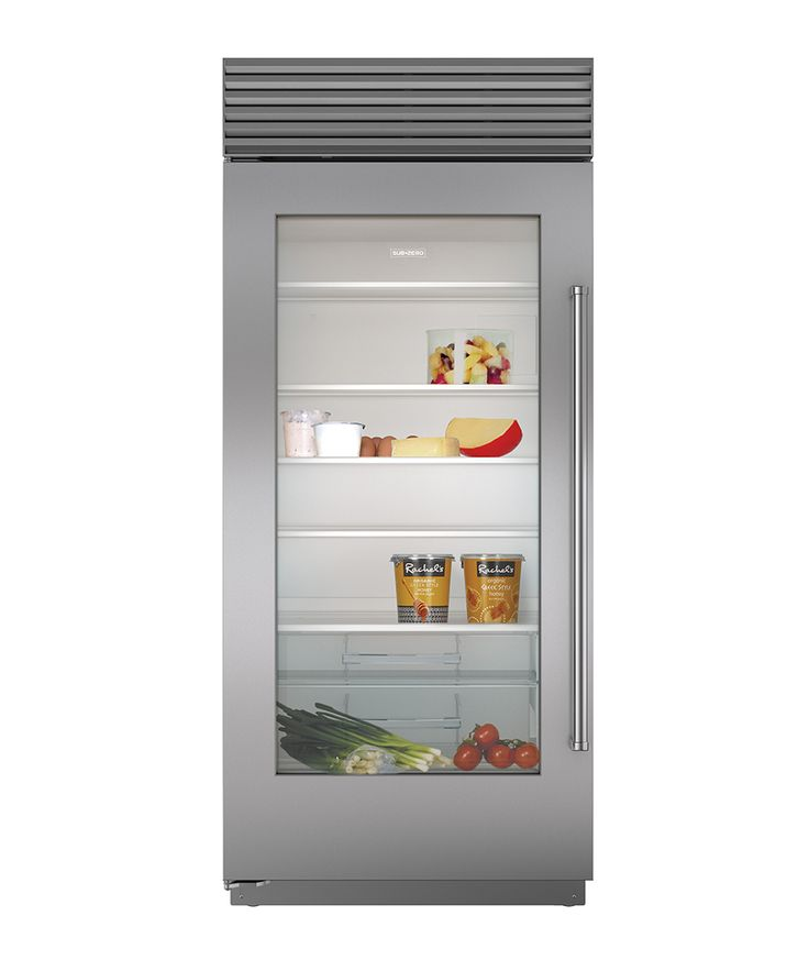 An advanced, glass-front refrigerator is a highly requested staple in many A-list homes. Built-In Over-And-Under Glass Door Refrigerator, SUB-ZERO & WOLF.