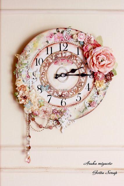Gotta Scrapcards: gorgeous shabby chic clock