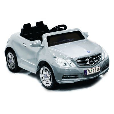 Kid Motorz Mercedes Benz E550 Car Battery Powered Riding Toy - Silver - 0771