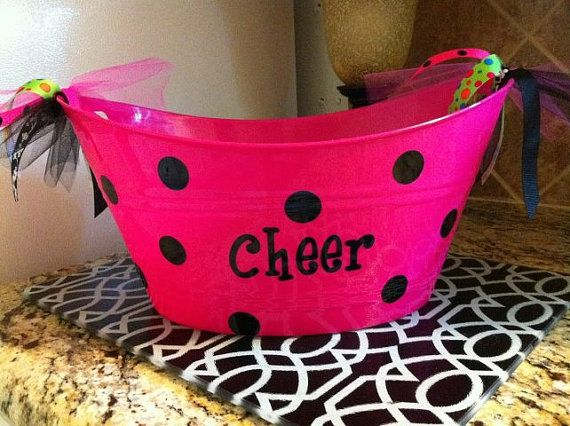 Cheer Bucket - This would be so cute to bring snacks and water for the girls