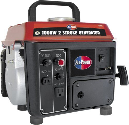 This ultra-light generator is ideal for camping or emergency use. Not for sale in California. Rated Watts 850 Battery Included No Battery Required No Low Oil Shutdown Yes Engine Displacement cc 63...