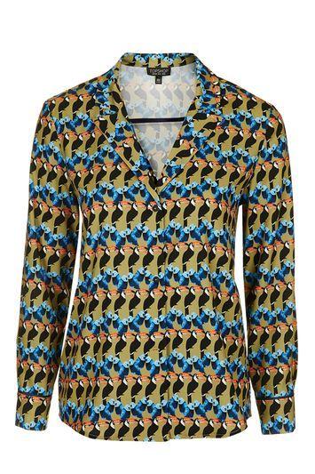 Printed Pyjama Style Shirt