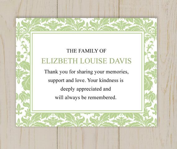 17 best ideas about Funeral Thank You Notes – Funeral Words for Cards