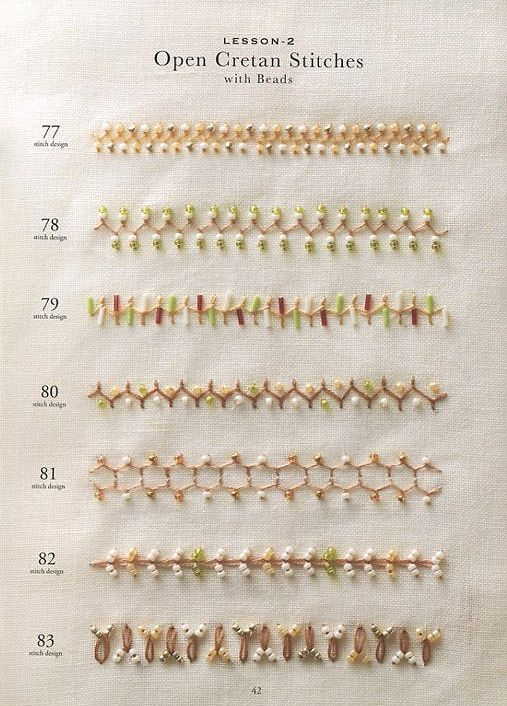Bead Embroidery Stitch Samplers 130 Japanese by JapanLovelyCrafts
