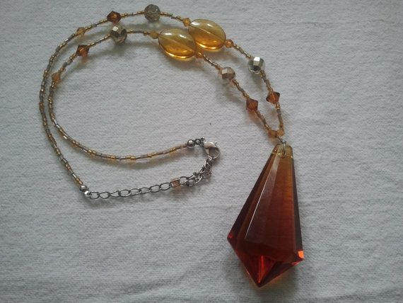 Vintage Art Deco Flapper style Glass Amber by Theforgottenfrog, $42.56