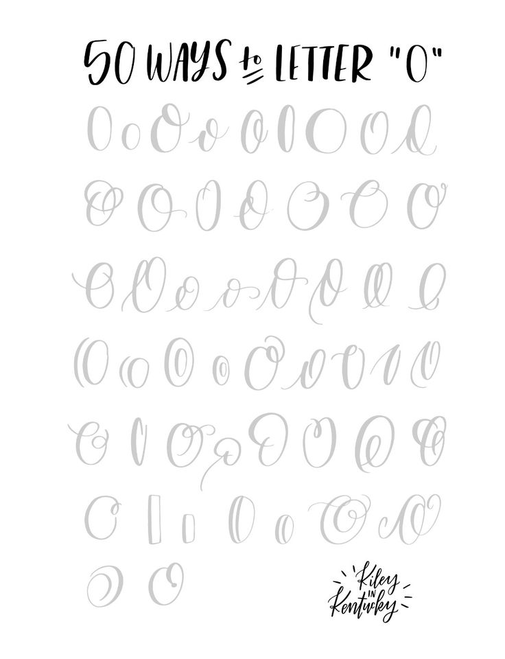 50 ways to letter - O