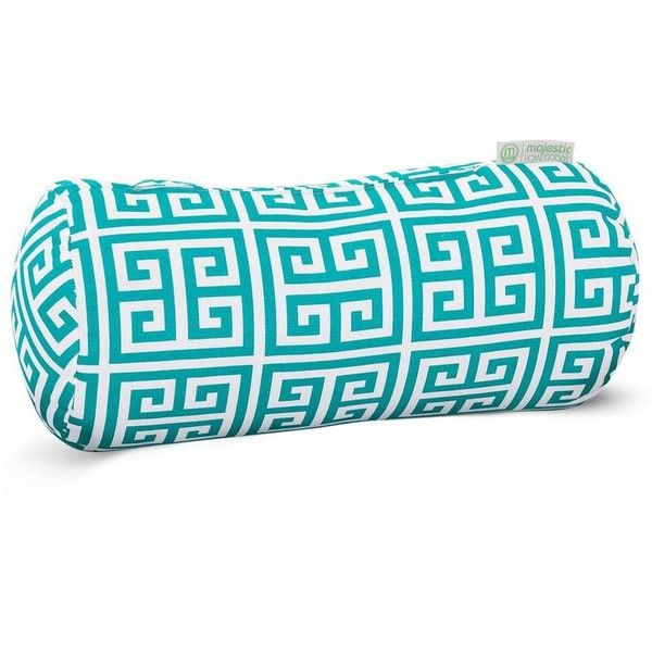 Dot U0026 Bo Columns Round Bolster Pillow ($35) ❤ Liked On Polyvore Featuringu2026