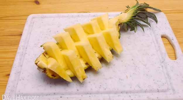 Voila! You now have a beautiful pineapple platter to share.