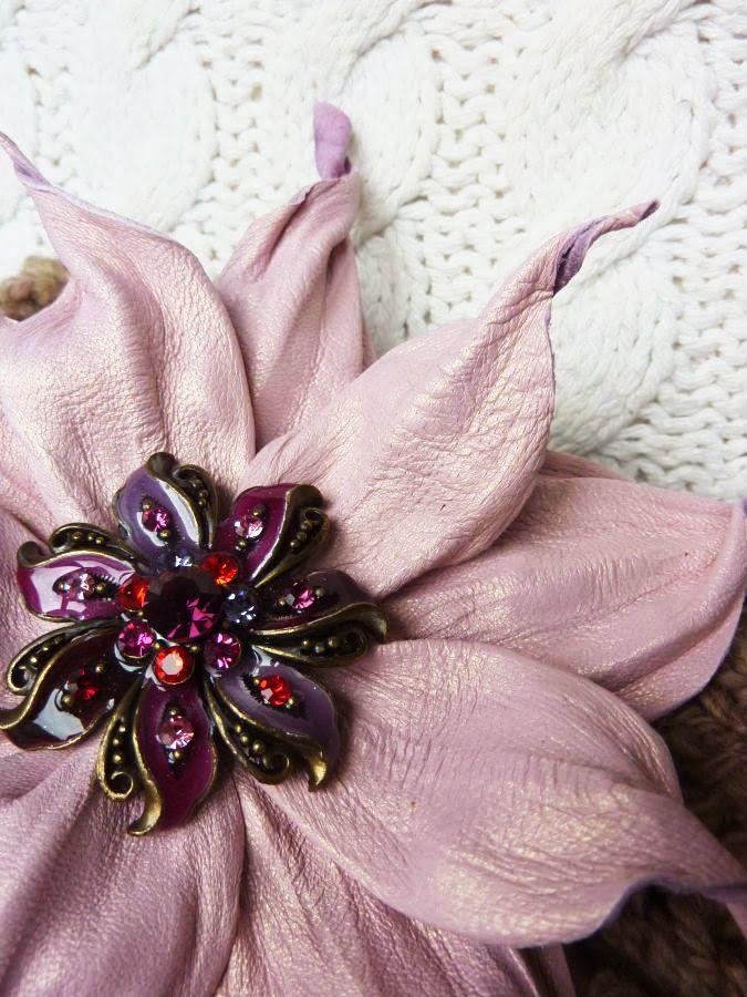 Silk Fantasy and...: цветы из кожи
