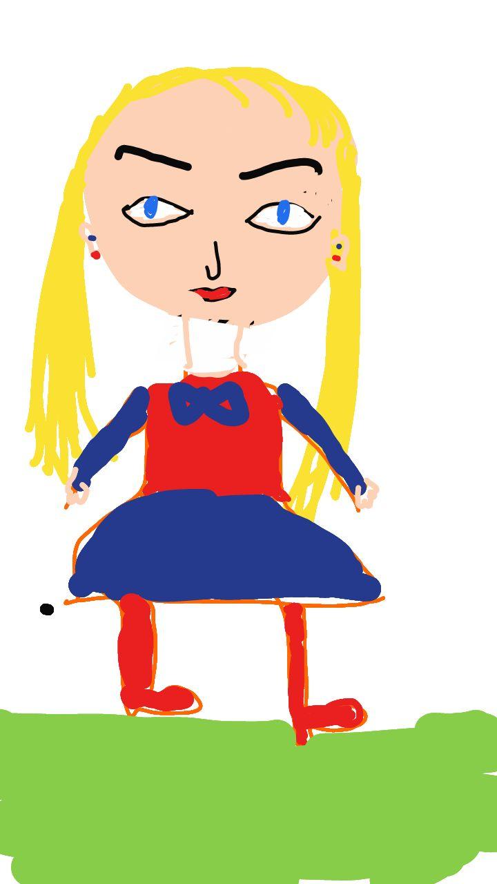 """معاصم 's drawing at Junimong. 10-02-2014 """" Play with Junimong! """" #kidsdrawing #junimong"""