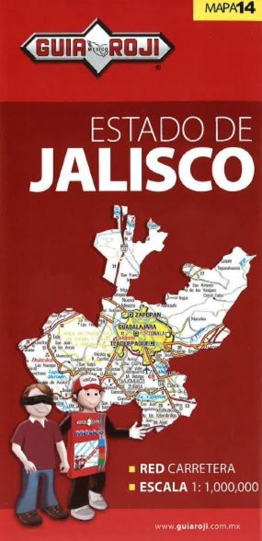 Jalisco, Mexico, State Map by Guia Roji