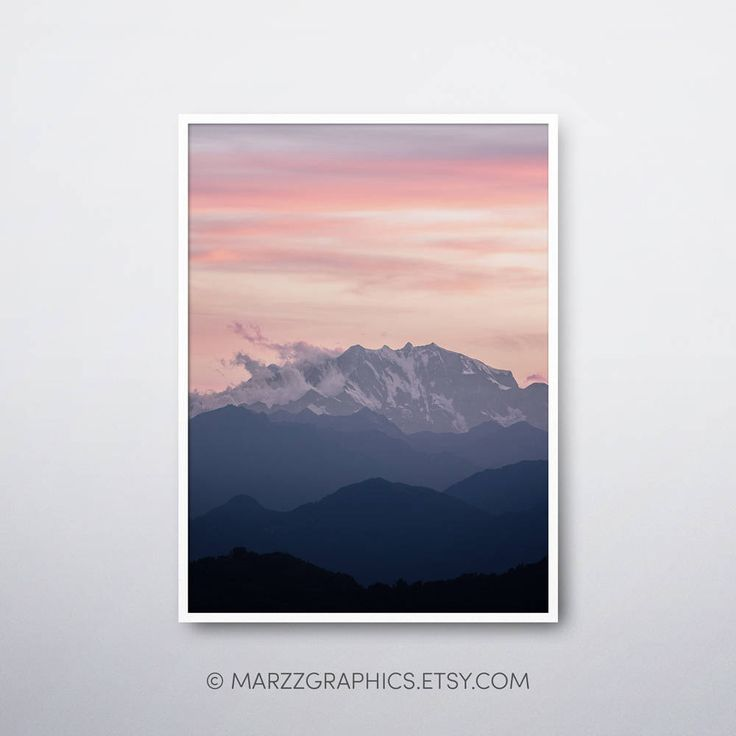 37 best Abstract Grey Blue Mountains, Mountains Wall Art, Home Decor ...