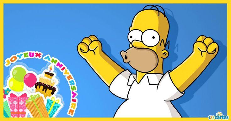 Carte anniversaire homer simpson