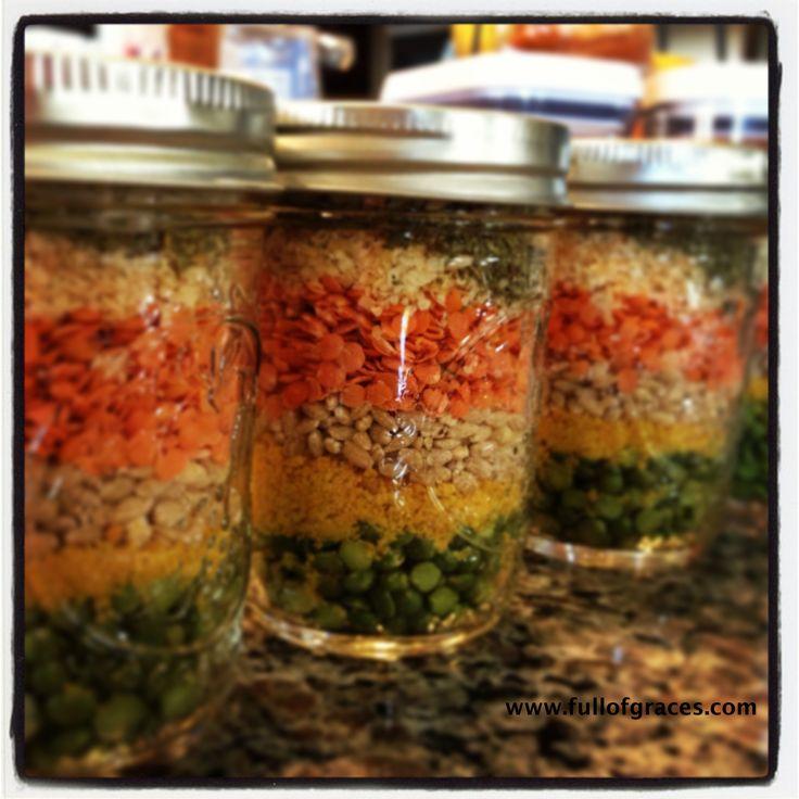 Lentil Soup in a Jar (Christmas 2014)
