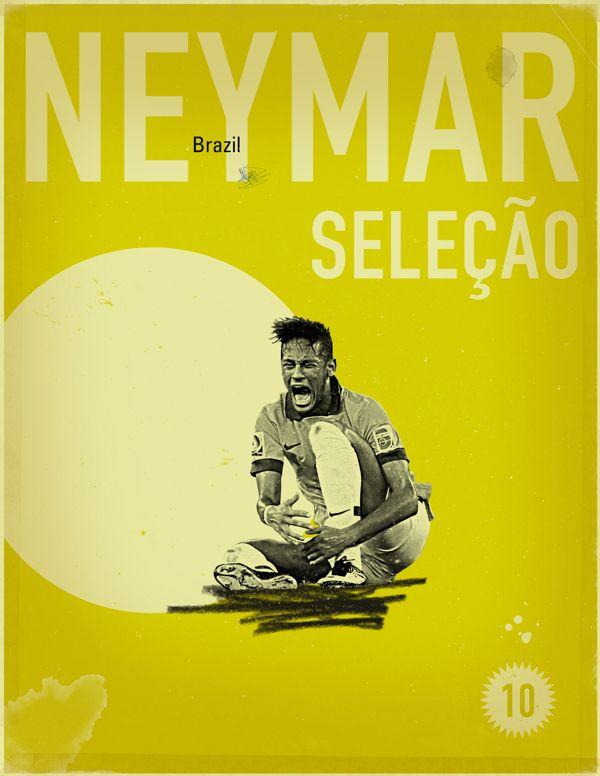 World Cup 2014 - Each Country's Fan Favourite by Jon Rogers, via Behance #soccer #poster #neymar
