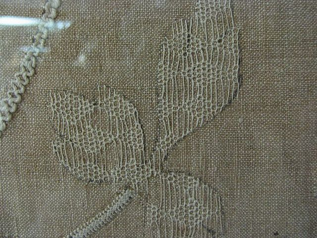 Detail of 16th century linen embroidery in Basel museum