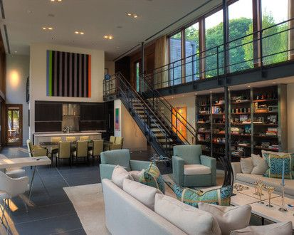 Woodvalley House, Contemporary Family Room, Baltimore