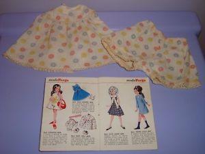 FURGA 3S ABITO BABY DOLL 1966 FASHION ALTA MODA bambola DRESS OUTFIT poupee toy | eBay