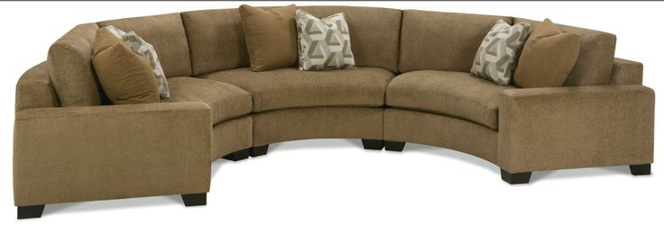 Fenwick Three Piece Conversation Sectional Sofa by Rowe
