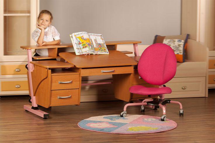 Детский стол Эргономик с двумя тумбами