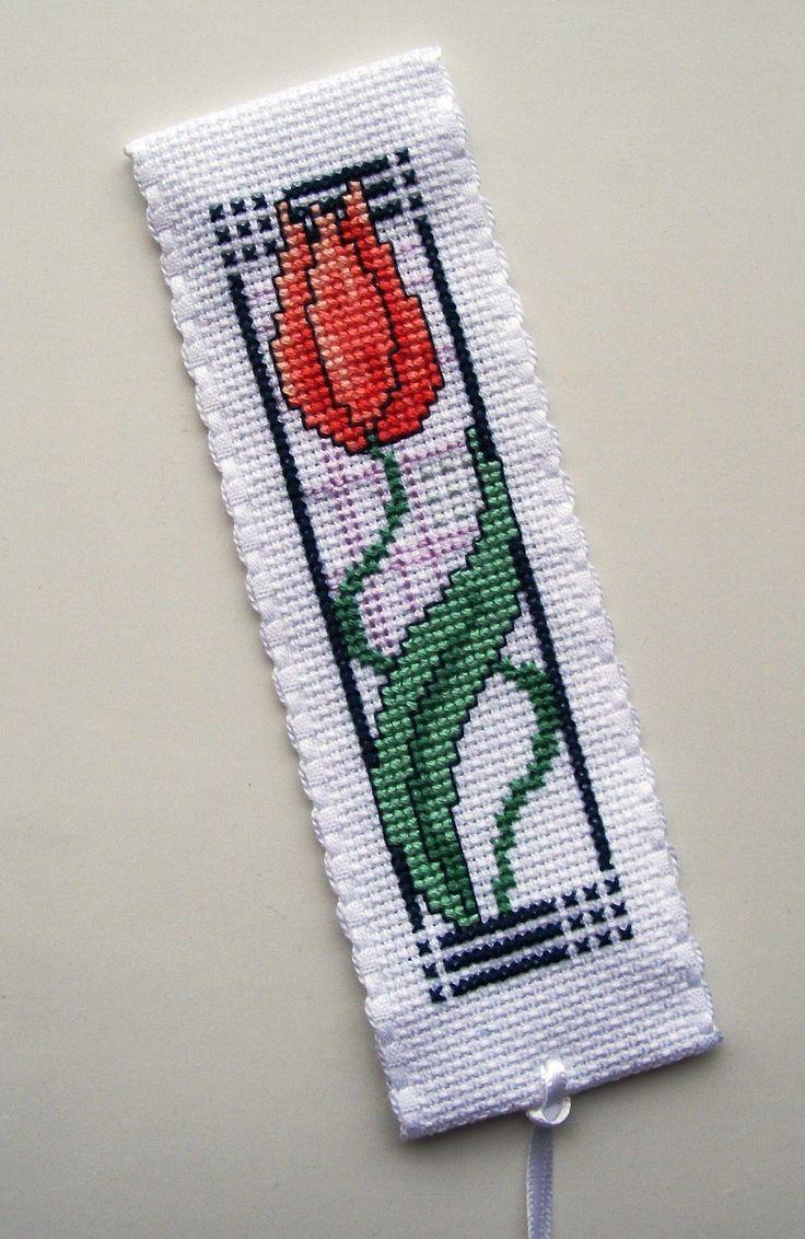 Art Nouveau Tulip bookmark  Joan Elliot